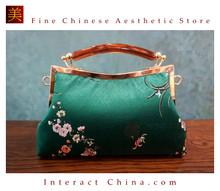 Classy Handcrafted Silk Brocade Handbag Everyday Weekend Crossbody Bag Kiss Lock Travel Shoulder Bag #107