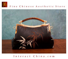 Classy Handcrafted Silk Brocade Handbag Everyday Weekend Crossbody Bag Kiss Lock Travel Shoulder Bag #108