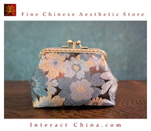 Handmade Silk Brocade Evening Purse Party Night Out Pochette Retro Crossbody Clutch Fashion Kiss Lock Bag #101