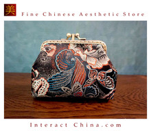 Handmade Silk Brocade Evening Purse Party Night Out Pochette Retro Crossbody Clutch Fashion Kiss Lock Bag #102