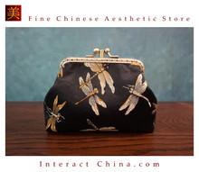 Handmade Silk Brocade Evening Purse Party Night Out Pochette Retro Crossbody Clutch Fashion Kiss Lock Bag #104