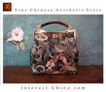 Classy Handcrafted Silk Brocade Handbag Everyday Weekend Crossbody Bag Kiss Lock Travel Shoulder Bag #113