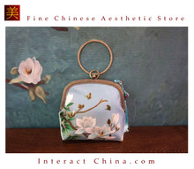 Elegant Handsewn Su Embroidery Handbag Crossbody Bag Luxury Evening Party Bridal Purse with Chain #101