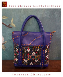 Retro Style Handsewn Shoulder Bag Antique Hand Embroidery Women Luxury Cotton Handbag Spacious Hobo Bag #111