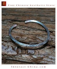 Fine 925 Cuff Bracelet Sterling Silver Jewelry 100% Handcrafted #108