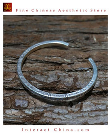 Fine 925 Cuff Bracelet Sterling Silver Jewelry 100% Handcrafted #109