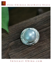 100% Handcrafted Natural Thai Pearl Pendant Without Chain 925 Sterling Silver Saltwater Cultured White Pearl Vintage Style - Fairtrade #104