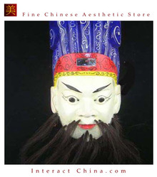 Chinese Drama Home Wall Decor Opera Mask 100% Wood Craft Folk Art #106 Pro Level