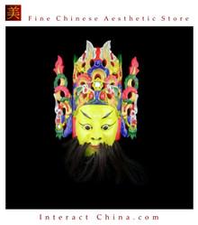 Chinese Drama Home Wall Decor Opera Mask 100% Wood Craft Folk Art #110 Pro Level