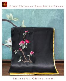Premium Fine Natural Suzhou Silk Scarf 100% Hand Sewn Chinese Embroidery Art #101
