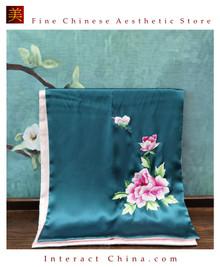 Premium Fine Natural Suzhou Silk Scarf 100% Hand Sewn Chinese Embroidery Art #102