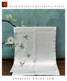 Premium Fine Natural Suzhou Silk Scarf 100% Hand Sewn Chinese Embroidery Art #103