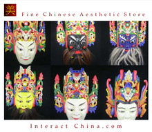 Chinese Drama Home Wall Decor Opera Mask 100% Wood Craft Folk Art #107-112 6 Role