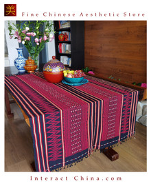 Handwoven Aka Tapestry Bohemian Chic Decor Kilim Rug Cotton 69.7x37.8¡± Tablecloth Bed Runner 103