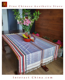 Handwoven Aka Tapestry Bohemian Chic Decor Kilim Rug Cotton 72x39.4'' Tablecloth Bed Runner 104