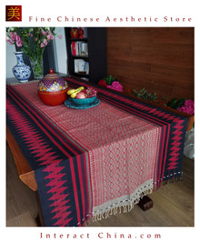 Handwoven Aka Tapestry Bohemian Chic Decor Kilim Rug Cotton 89.8x38.6'' Tablecloth Bed Runner 105