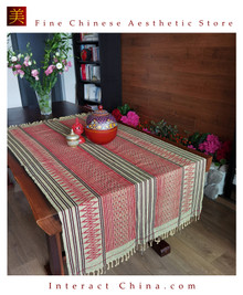 Handwoven Aka Tapestry Bohemian Chic Decor Kilim Rug Cotton 74.8x37'' Tablecloth Bed Runner 106