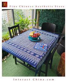 100% Handcraft Batik Painting 47x47'' Tablecloth Home Wall Décor Hanging Art #101