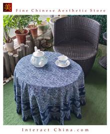 100% Handcraft Batik Painting 59'' Tablecloth Home Wall Décor Hanging Art #102
