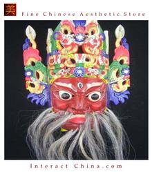 Chinese Drama Home Wall Decor Opera Mask 100% Wood Craft Folk Art #118 Pro Level