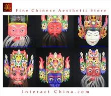 Chinese Drama Home Wall Decor Opera Mask 100% Wood Craft Folk Art #113-118 6 Role