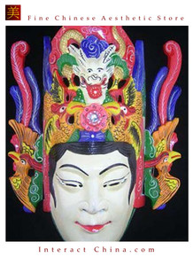 Chinese Drama Home Wall Decor Opera Mask 100% Wood Craft Folk Art #127 Pro Level