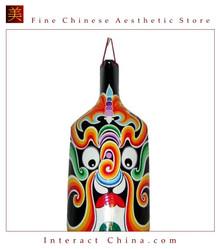 "Chinese Home Room Wall Decor Festive Mask 100% Wood Craft Folk Art #106 - 07x16"""