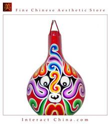 "Chinese Home Room Wall Decor Festive Mask 100% Wood Craft Folk Art #108 - 07x11"""