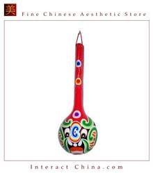 "Chinese Home Room Wall Decor Festive Mask 100% Wood Craft Folk Art #112 - 06x18"""