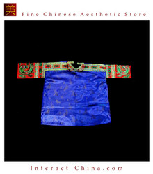 Tribal Vintage Clothing Costume Dress - Hmong Miao Embroidered Silk Brocade Jacket #101