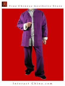 Premium Line Purple Kung Fu Martial Arts Taichi Uniform Suit XS-XL or Tailor Custom Made