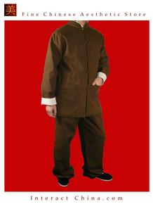 Premium Line Brown Kung Fu Martial Arts Taichi Uniform Suit XS-XL or Tailor Custom Made