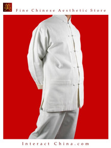 100% Cotton White Kung Fu Martial Arts Tai Chi Uniform Suit XS-XL or Tailor Custom Made