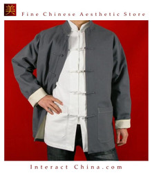 Fine Linen Grey Kung Fu Martial Arts Tai Chi Jacket Coat XS-XL or Tailor Custom Made