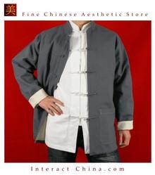 Fine Linen Grey Kung Fu Martial Arts Tai Chi Jacket Coat XS-XL or Tailor Custom Made
