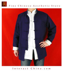 Fine Linen Blue Kung Fu Martial Arts Tai Chi Jacket Coat XS-XL or Tailor Custom Made
