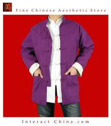 Fine Linen Purple Kung Fu Martial Arts Tai Chi Jacket Coat XS-XL or Tailor Custom Made