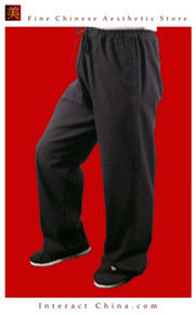 100% Cotton Black Kung Fu Martial Arts Tai Chi Pant Trousers XS-XL or Tailor Custom Made