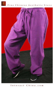 100% Cotton Purple Kung Fu Martial Arts Tai Chi Pant Trousers XS-XL or Tailor Custom Made