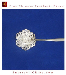 Handmade Silver Hair Accessories Stick Pin Tribal Ethnic Hmong Miao Jewelry #118