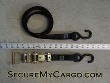 "1""x8' Ratchet Tie Down Strap S-hook/S-hook  833#WLL"