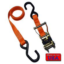 "Ratchet Tie Down Strap S-hook/S-hook 1""x4' 2.5k Break"