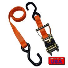"Ratchet Tie Down Strap S-hook/S-hook 1""x4' 2.5k Break"