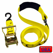 "ATV 2"" Ratchet Strap S-hook & Cordura Soft Loop/S-hook 8' 833#WLL"