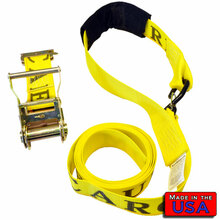 "ATV  2"" Ratchet Strap S-hook & Cordura Soft Loop/E-Track 8'' 833#WLL"