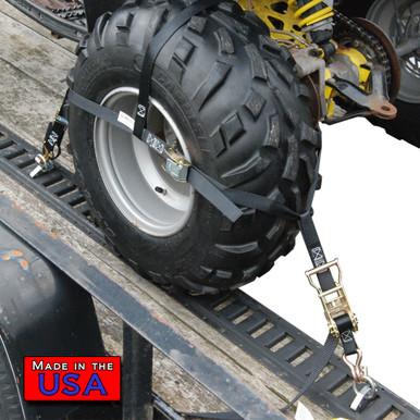 ATV Wheel Net ratchet end