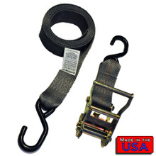 "2"" Ratchet Strap w/ 1"" S-hooks  10'     2,500lbs Break"