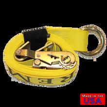 "ATV Lasso Strap 2""x10' w/ Flat Hook"