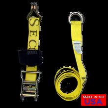 """ATV Lasso Strap 2""""x10' w/ Wire Hook"""
