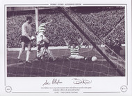 Chalmers and Auld celebrate during the 1965 Scottish Cup Final
